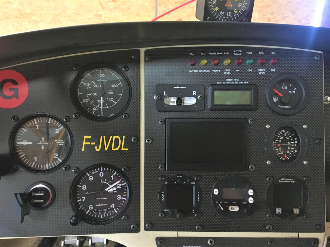 Formation de pilote d'autogire
