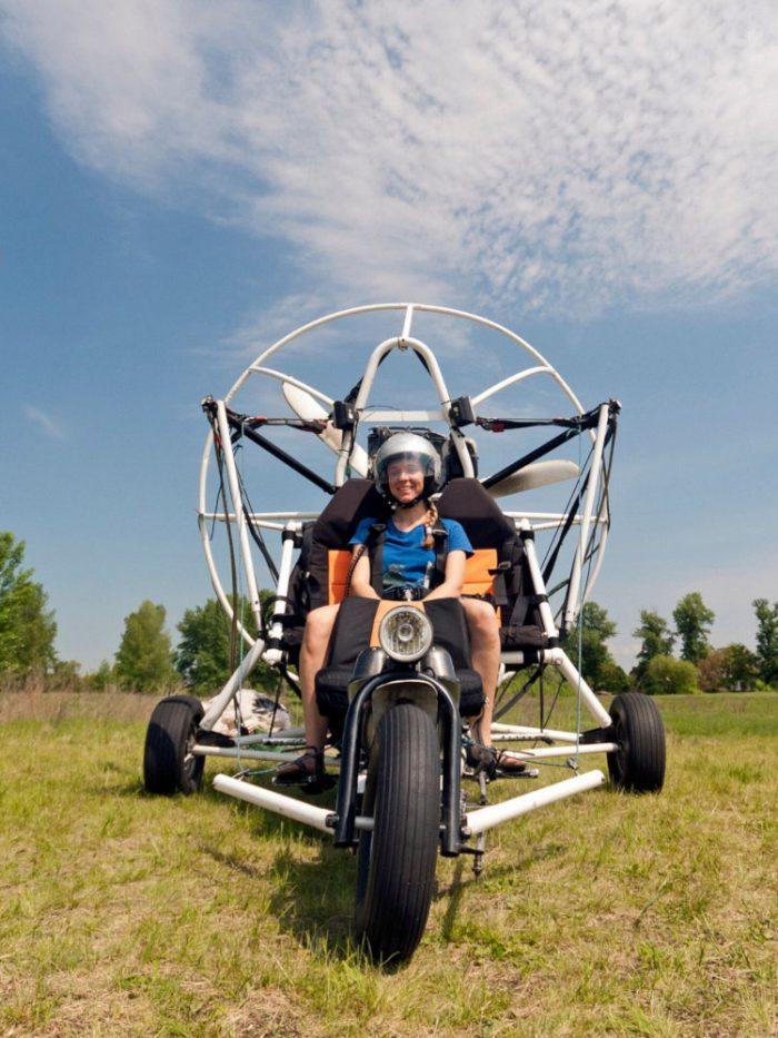 Tricycle de paramoteur