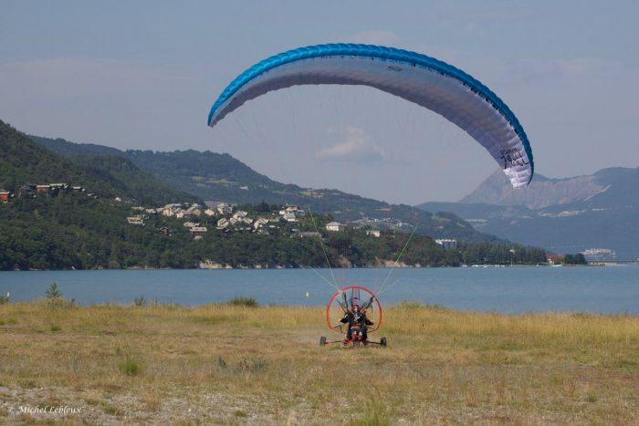 Formation paramoteur, lac de Serre-Ponçon