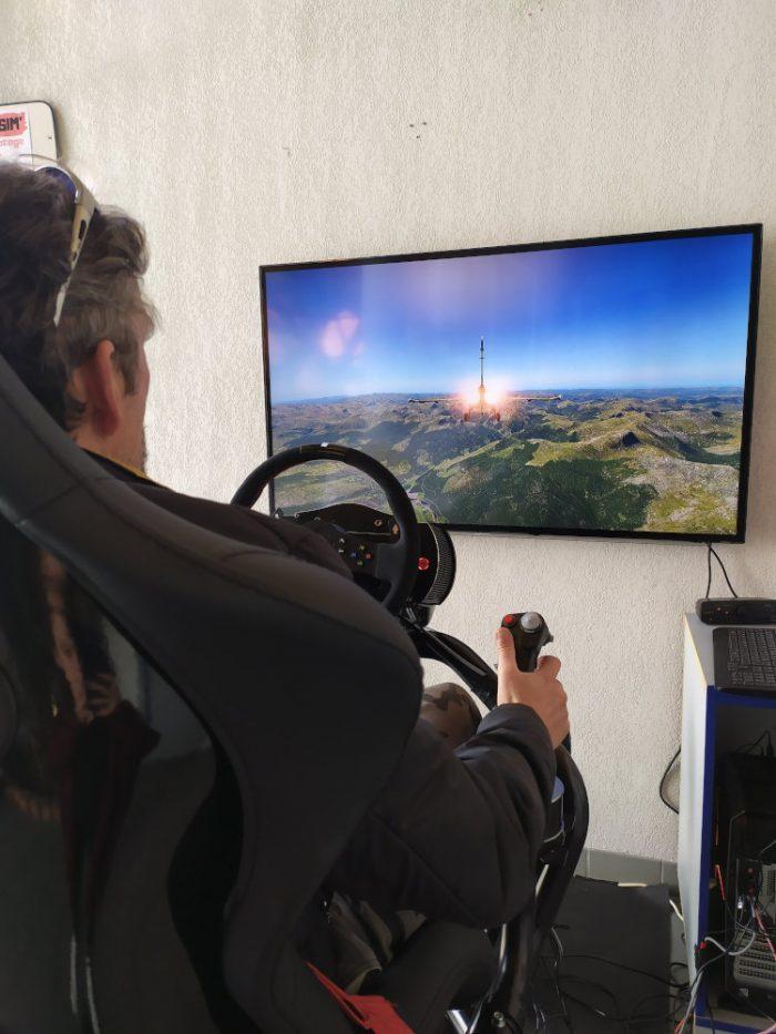Simulation de pilotage avion à Paradrenalin, Gap-Tallard